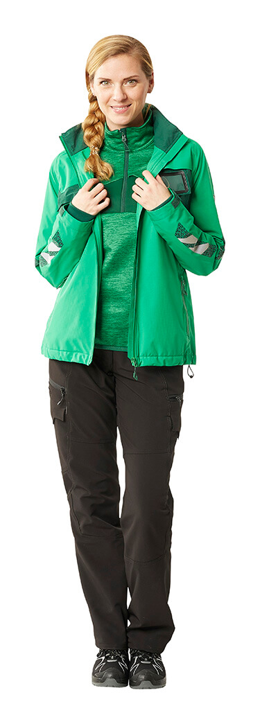 Green - Work pants for women, Jumper & Jacket - Woman