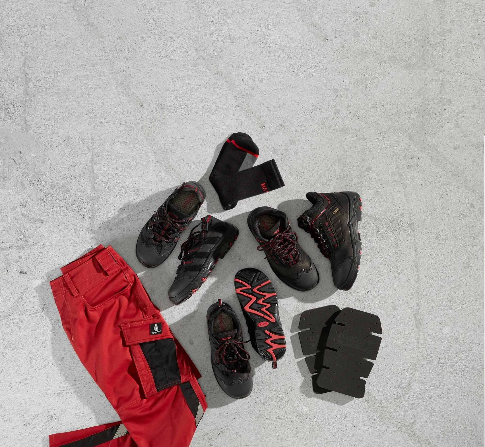Collage - Work Pants - Safety footwear - Red