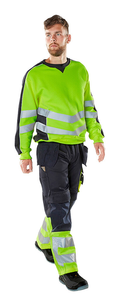 Hi-vis Jumper & Pants - Fluorescent yellow - MASCOT® SAFE SUPREME - Model