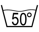 Warm wash, max. 50° C - Laundry Symbol