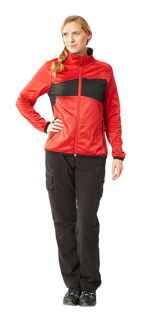 MASCOT® ACCELERATE Jumper for women & Work pants for women - Red & Black