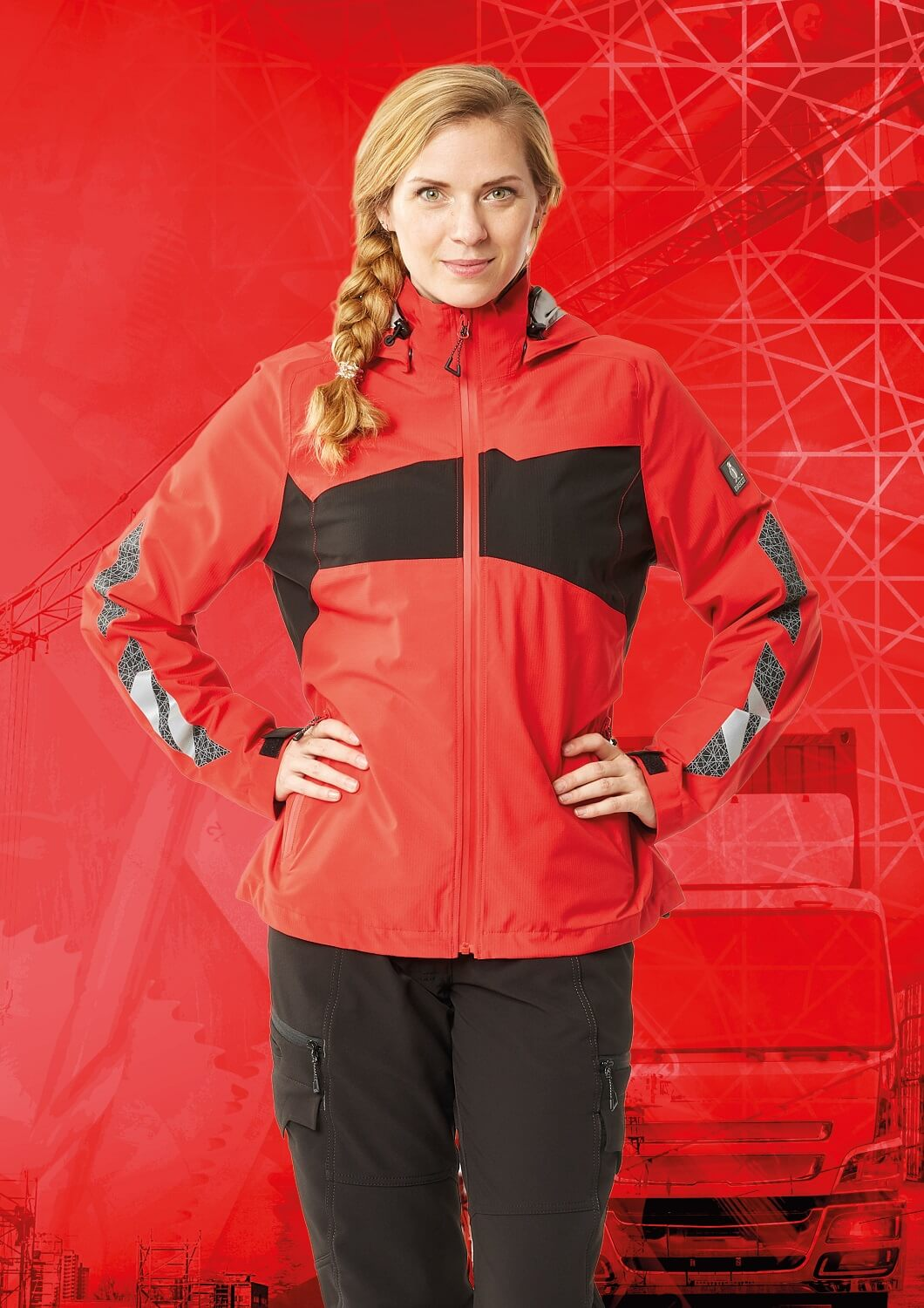 Pants & Jacket for women  - Red - MASCOT® ACCELERATE