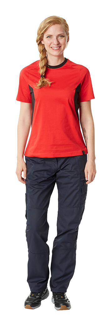 Pants & Work T-shirt - Red & Black - Woman - MASCOT® ACCELERATE