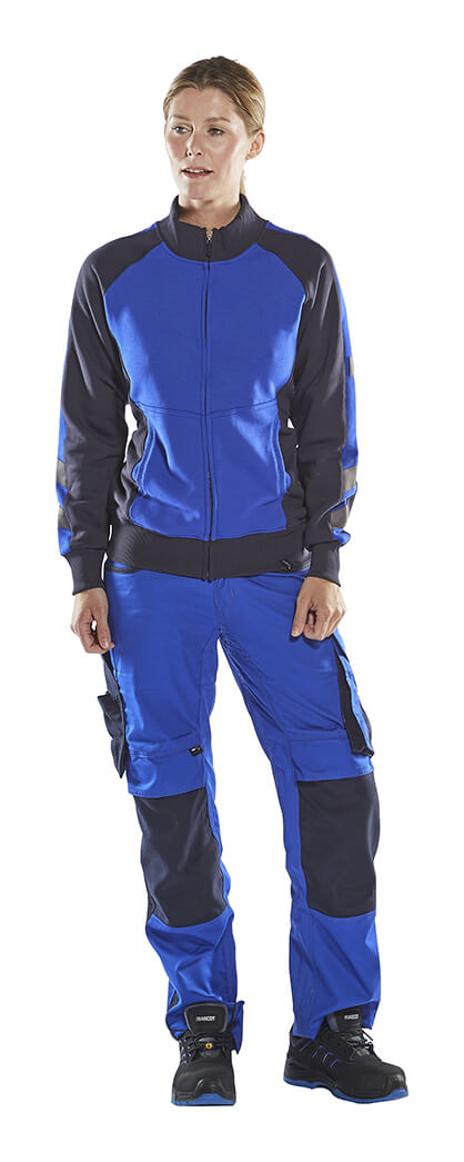 Woman - Royal blue - MASCOT® Fleece Jumper with zipper & Work Pants