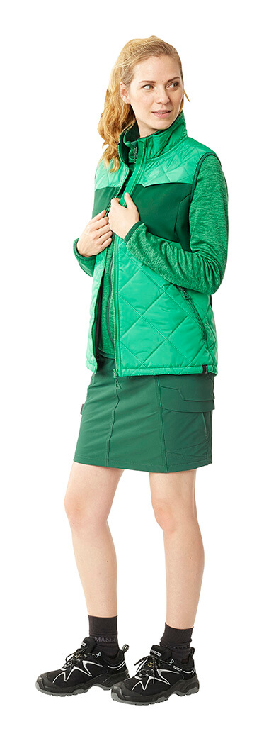 MASCOT® ACCELERATE Skirt, Thermal Gilet & Jumper - Green - Woman