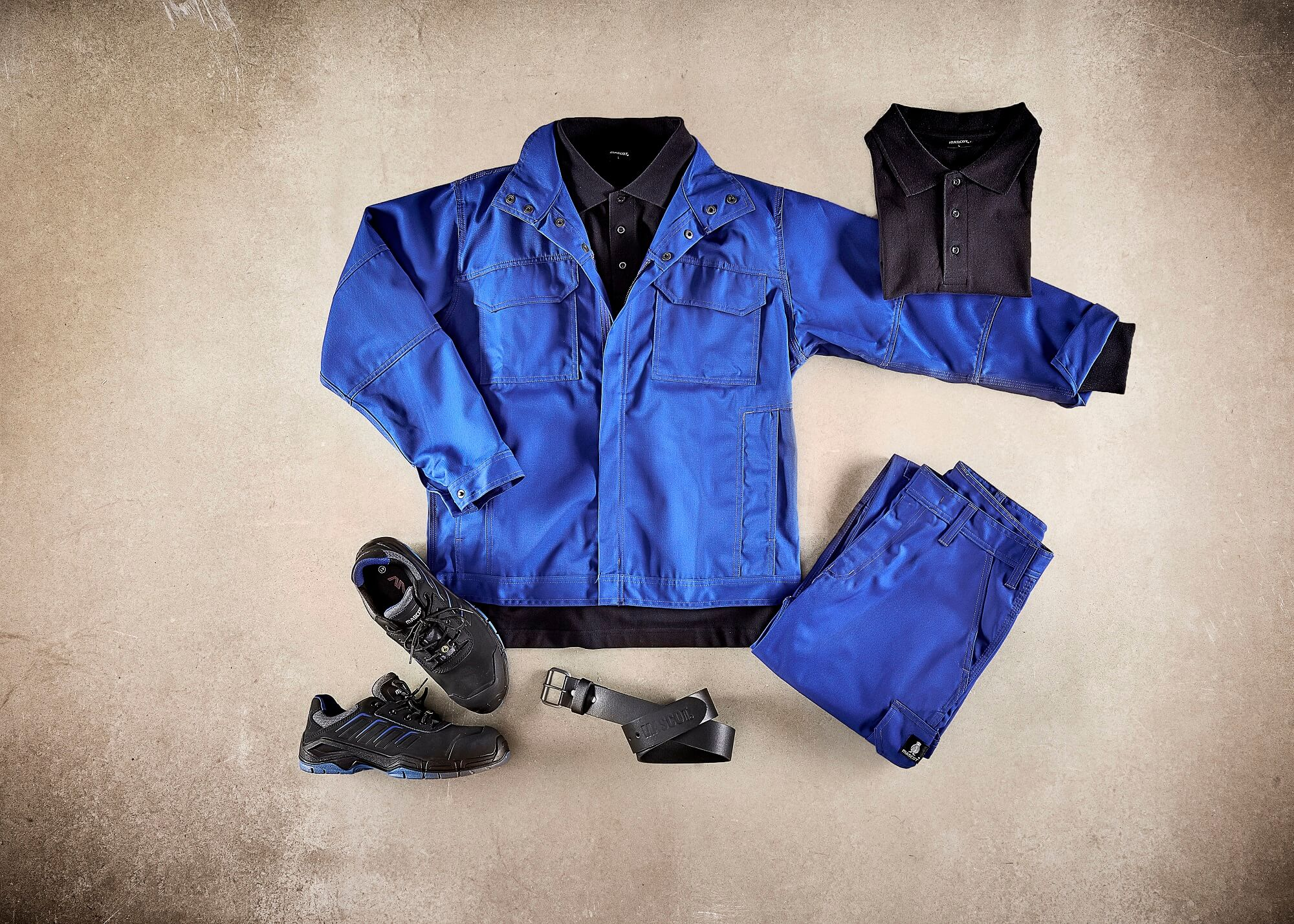 Royal blue - Work Jacket, Pants & Safety Shoe - Collage