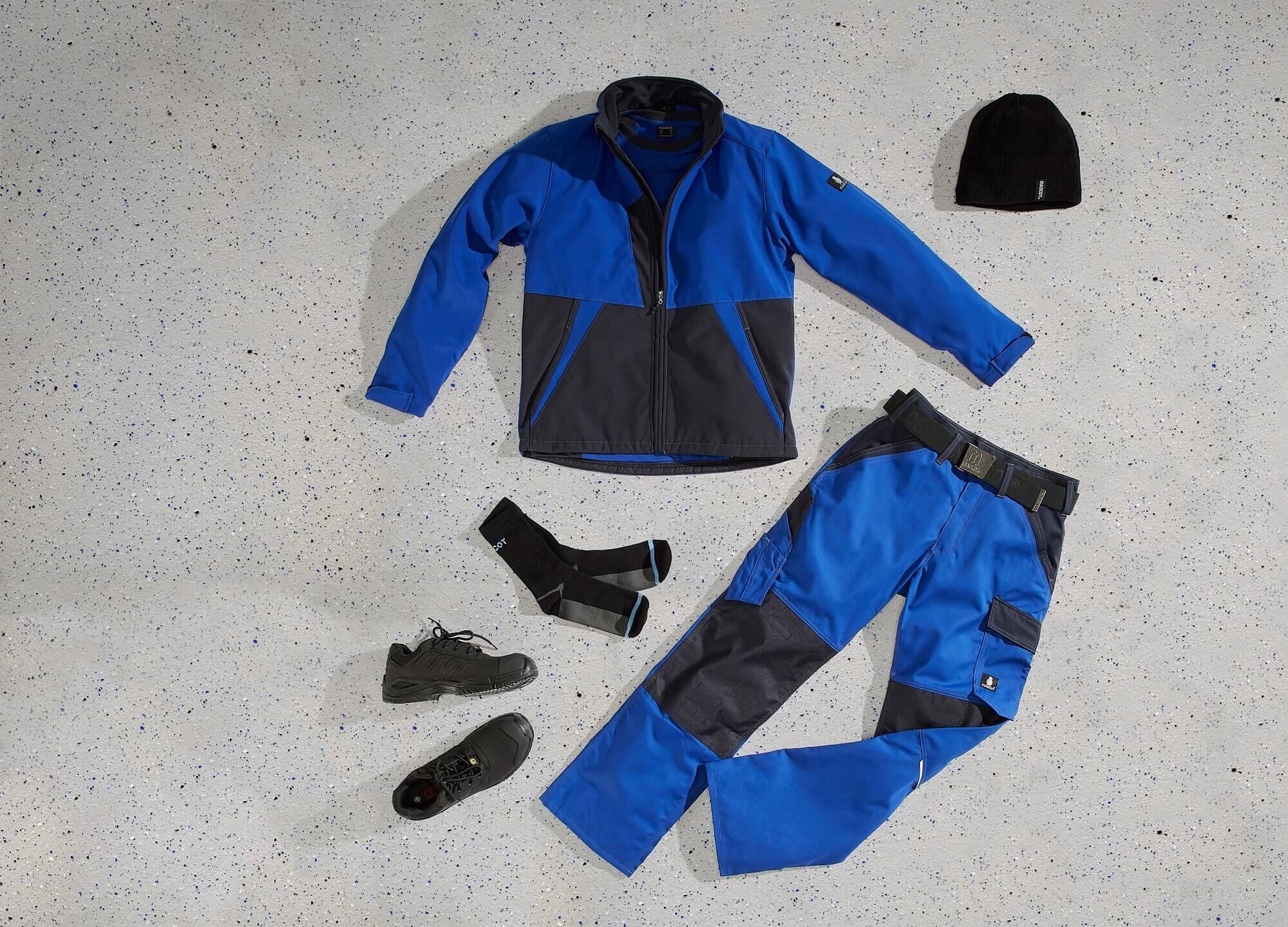 Royal blue - Softshell Jacket & Work Pants - Collage<p />
