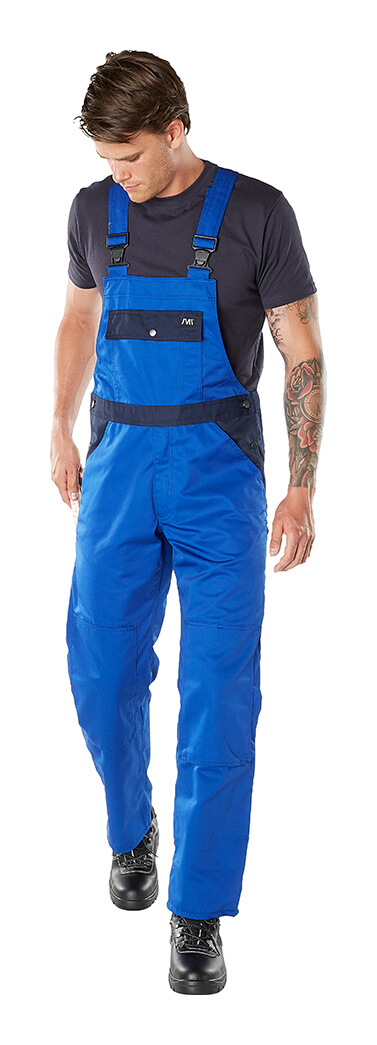 Model - Bib & Brace with kneepad pockets Royal blue - MACMICHAEL®