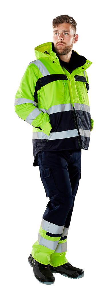 Work Jacket & Pants - Fluorescent yellow - MASCOT® SAFE COMPETE - Model
