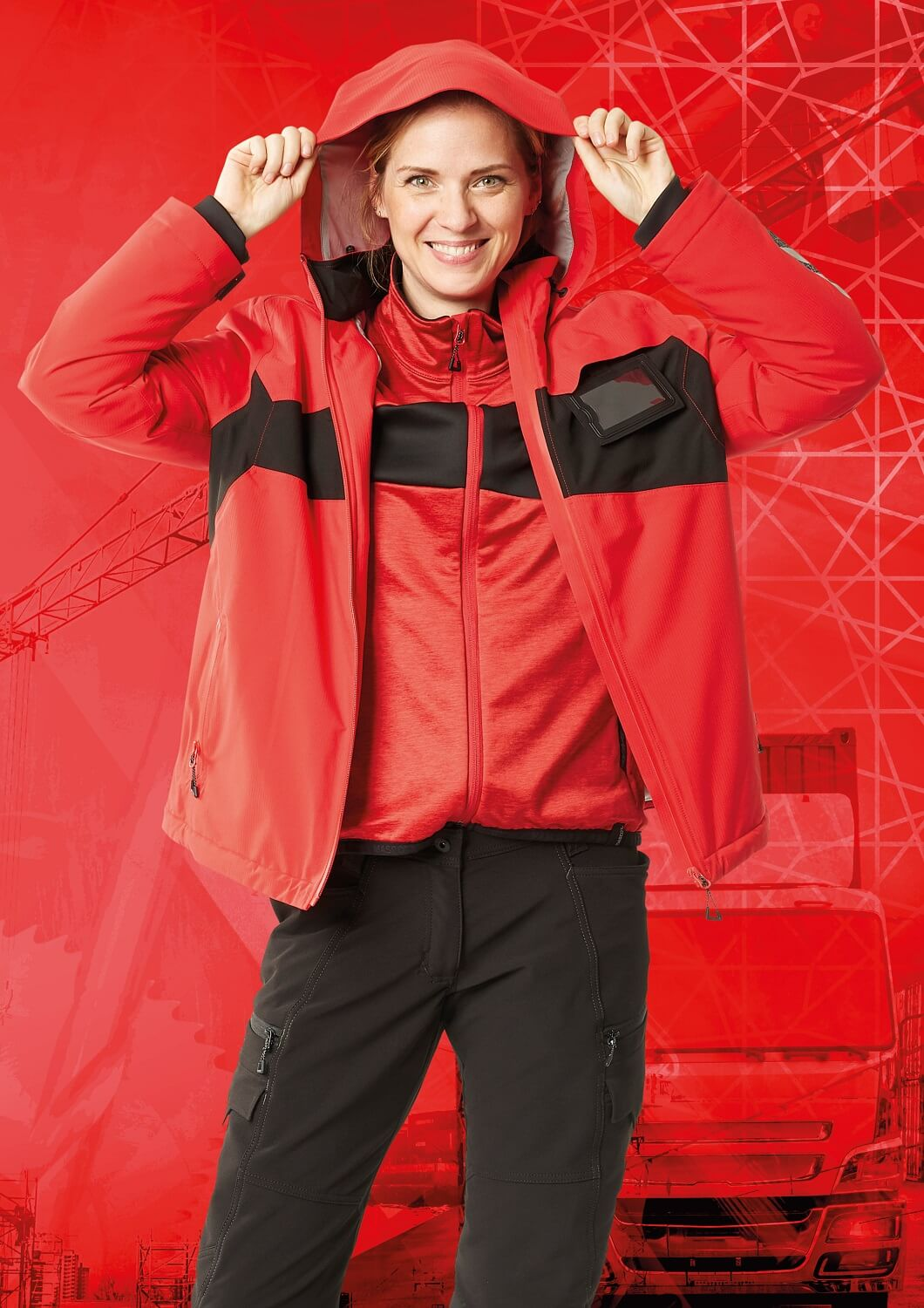 Jacket for women , Jumper & Pants - MASCOT® ACCELERATE - Red