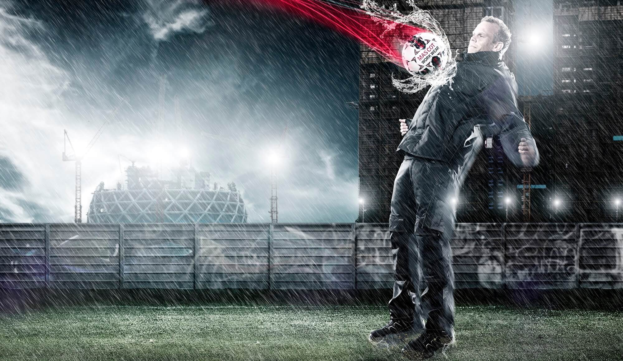 Rain Jacket - Man - Football Field
