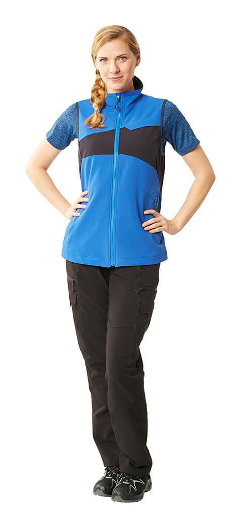 MASCOT® ACCELERATE - Royal blue - Gilet for women, T-shirt & Pants - Model