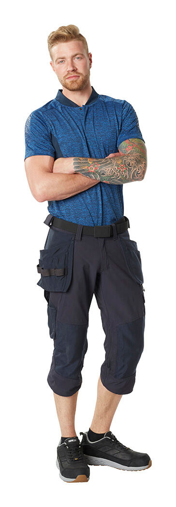 Man - MASCOT® ACCELERATE Polo shirt & ¾ Length Pants with kneepad pockets and holster pockets