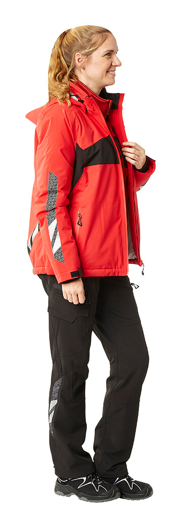 Winter Jacket & Pants - Red & Black - Woman - MASCOT® ACCELERATE