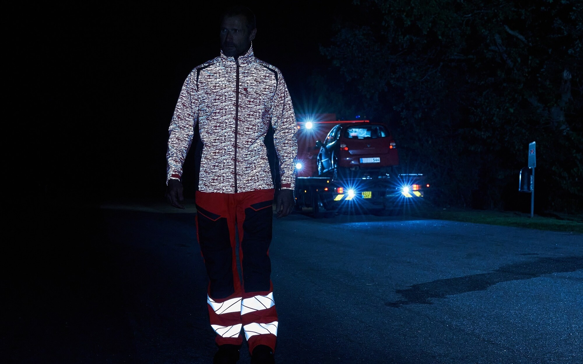 Softshell Jacket & Pants - MASCOT® ACCELERATE SAFE Fluorescent red