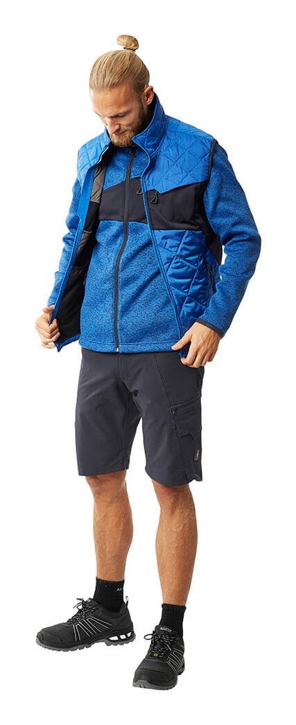 Man - Royal blue - MASCOT® ACCELERATE Thermal Gilet, Jumper & Work Shorts