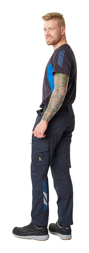 Navy - Pants with kneepad pockets, T-shirt & Safety footwear - MASCOT® ACCELERATE - Man