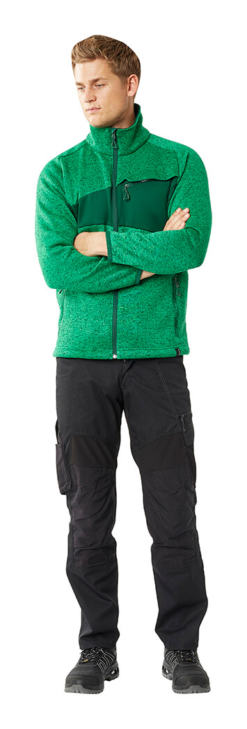 Pants & Zipped Jumper - Green & Black - Man - MASCOT® ACCELERATE
