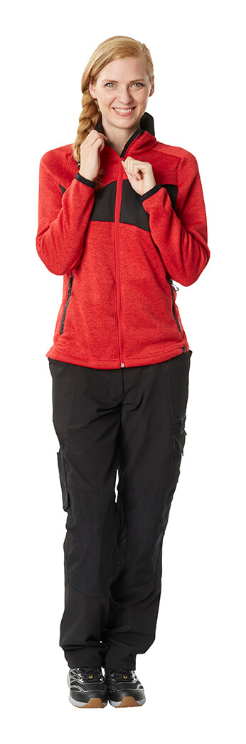 Knitted Jumper with zipper & Work pants for women - Model - MASCOT® ACCELERATE