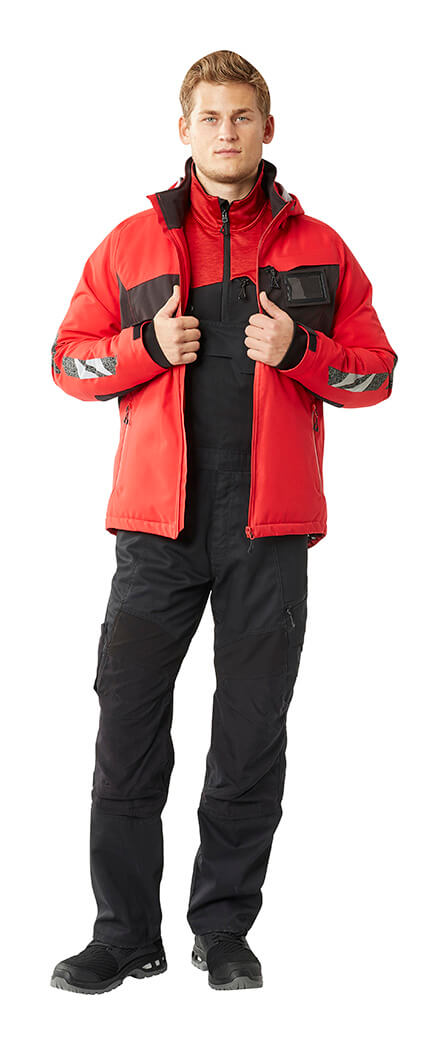 Red & Black - Bib & brace, Jacket & Jumper - Man