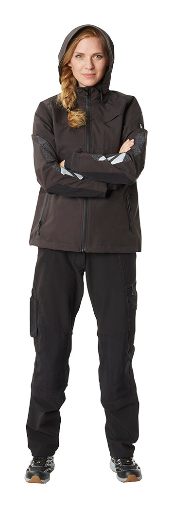 Work Jacket & Pants - Black - Woman