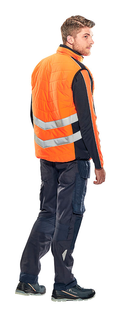 Winter Gilet, Jumper & Pants with kneepad pockets - Fluorescent orange - MASCOT® SAFE SUPREME - Model