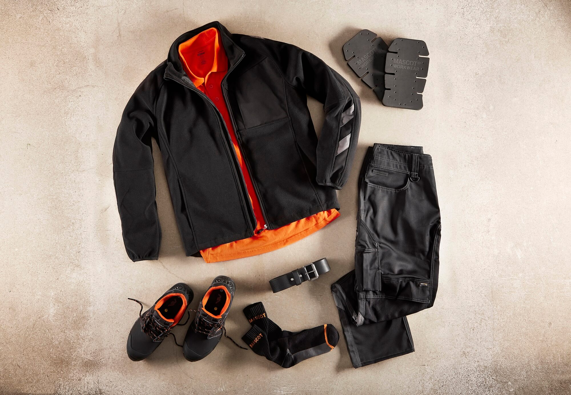 Collage - Black - Fleece Jacket. Work Pants, Safety footwear & Hi-vis Polo Shirt