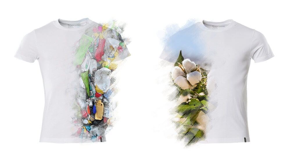 2019 - Models, Man, Woman, Sustainable products, T-shirts, Recycled polyester, Organic cotton