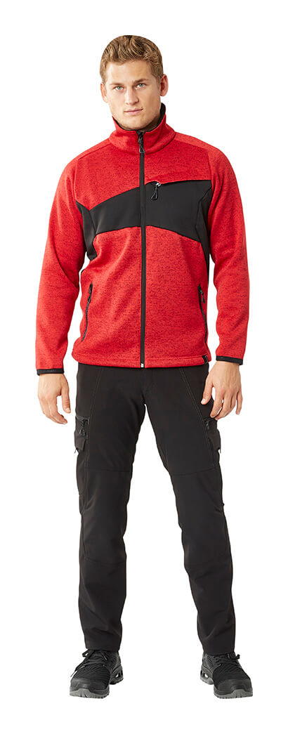 Pants & Zipped Jumper - Red & Black - Man - MASCOT® ACCELERATE