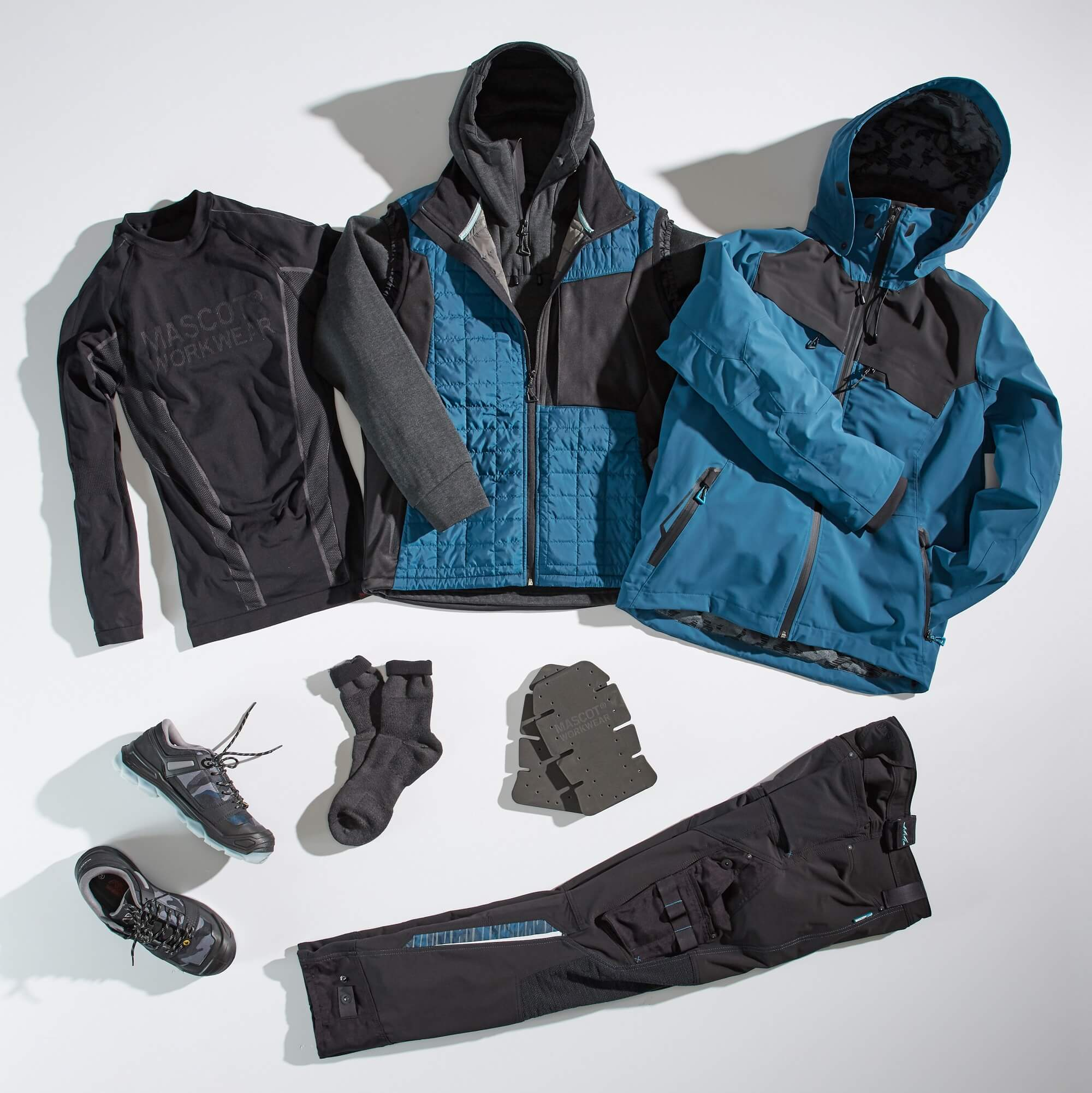 Collage - Work Jacket, Pants, Functional Under Shirt & Accessories - Petroleum