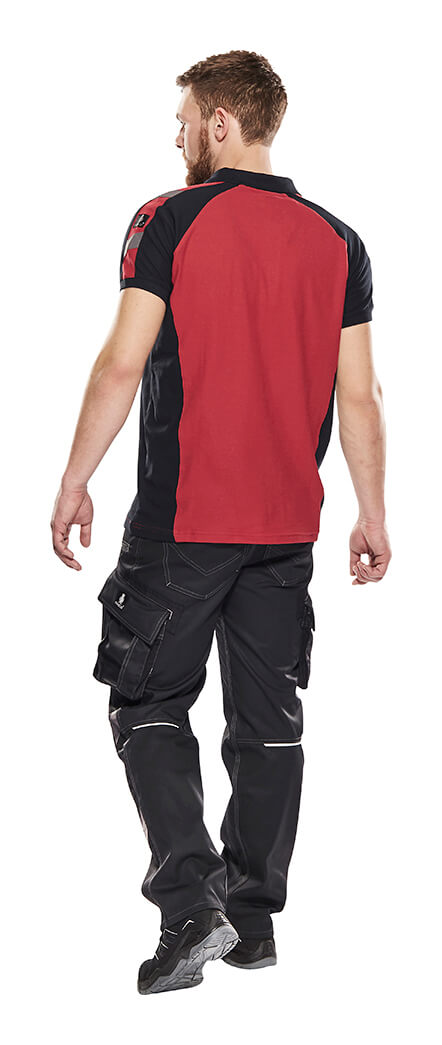 Work Polo Shirt & Pants Red - UNIQUE - Model