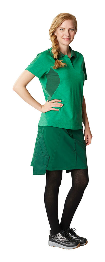 MASCOT® ACCELERATE Polo shirt & Skirt - Green - Woman
