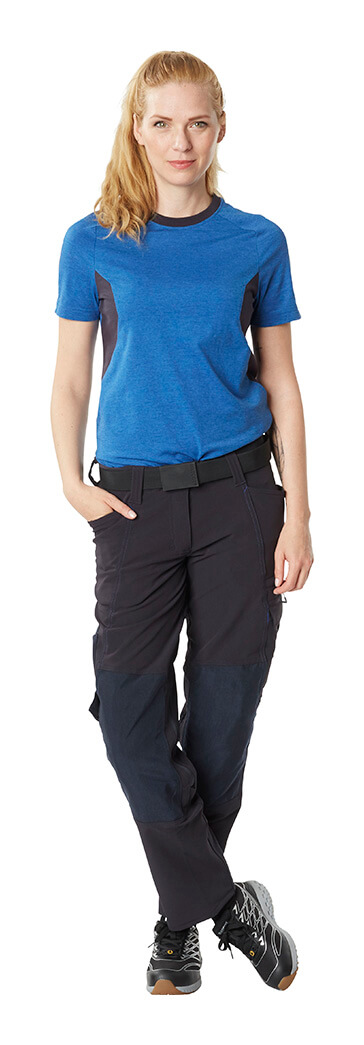 T-shirt Royal blue & Pants Black - MASCOT® ACCELERATE - Woman