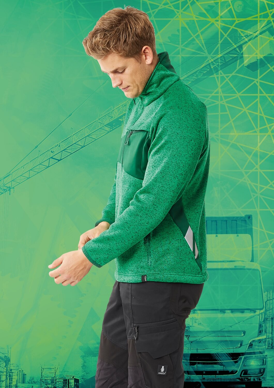 Pants & Work Jumper - MASCOT® ACCELERATE Brand DNA - Green