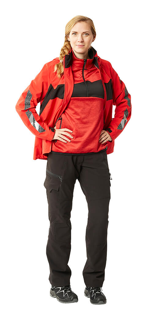 MASCOT® ACCELERATE Work pants for women, Jumper & Jacket - Red - Woman