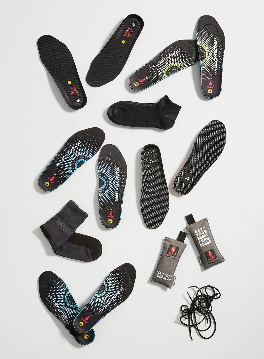 MASCOT® In Soles, Laces & Socks - Collage
