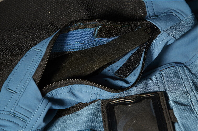 Detail - Pants with kneepad pockets