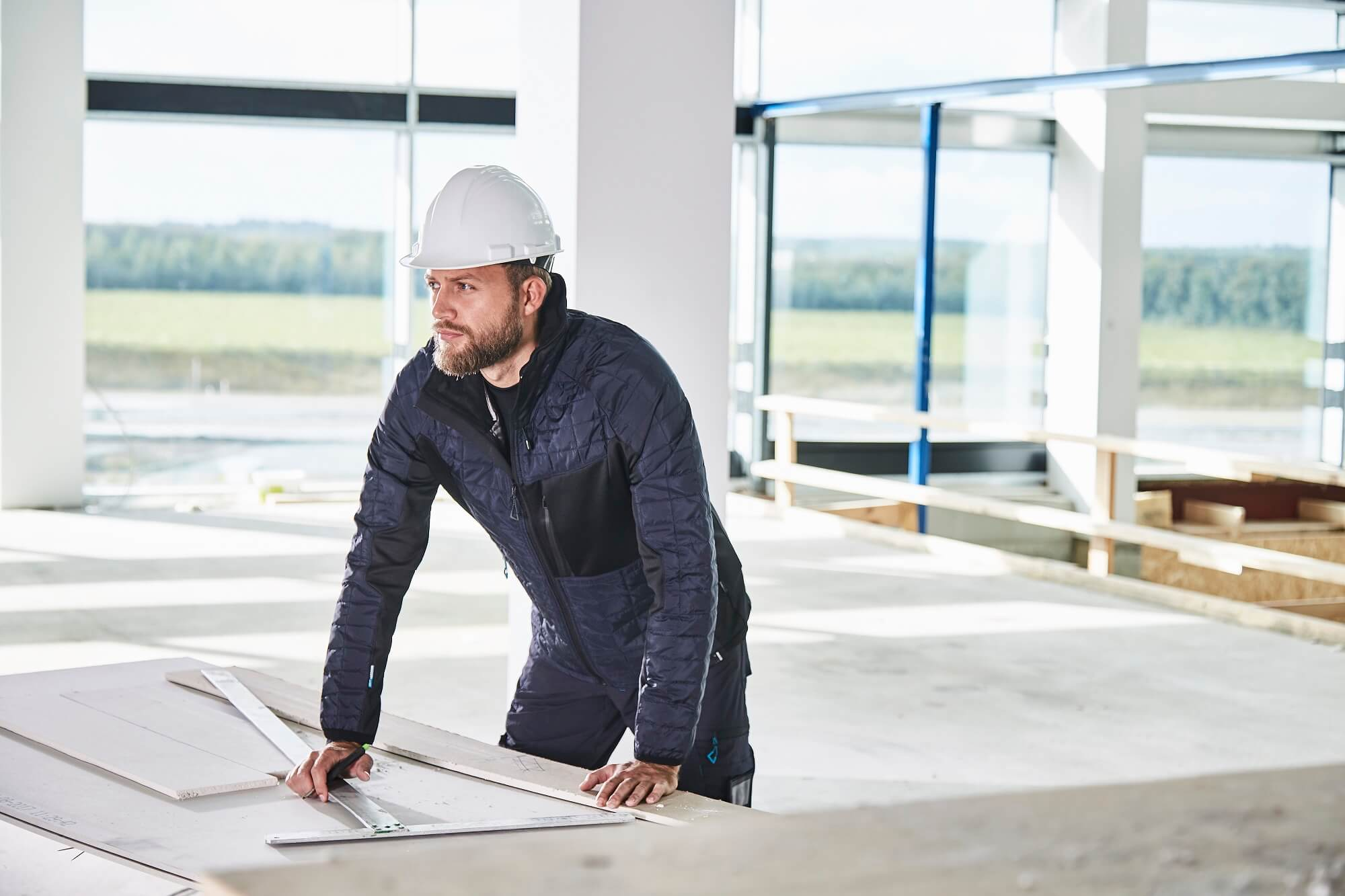 Construction site - Thermal Jacket - Navy