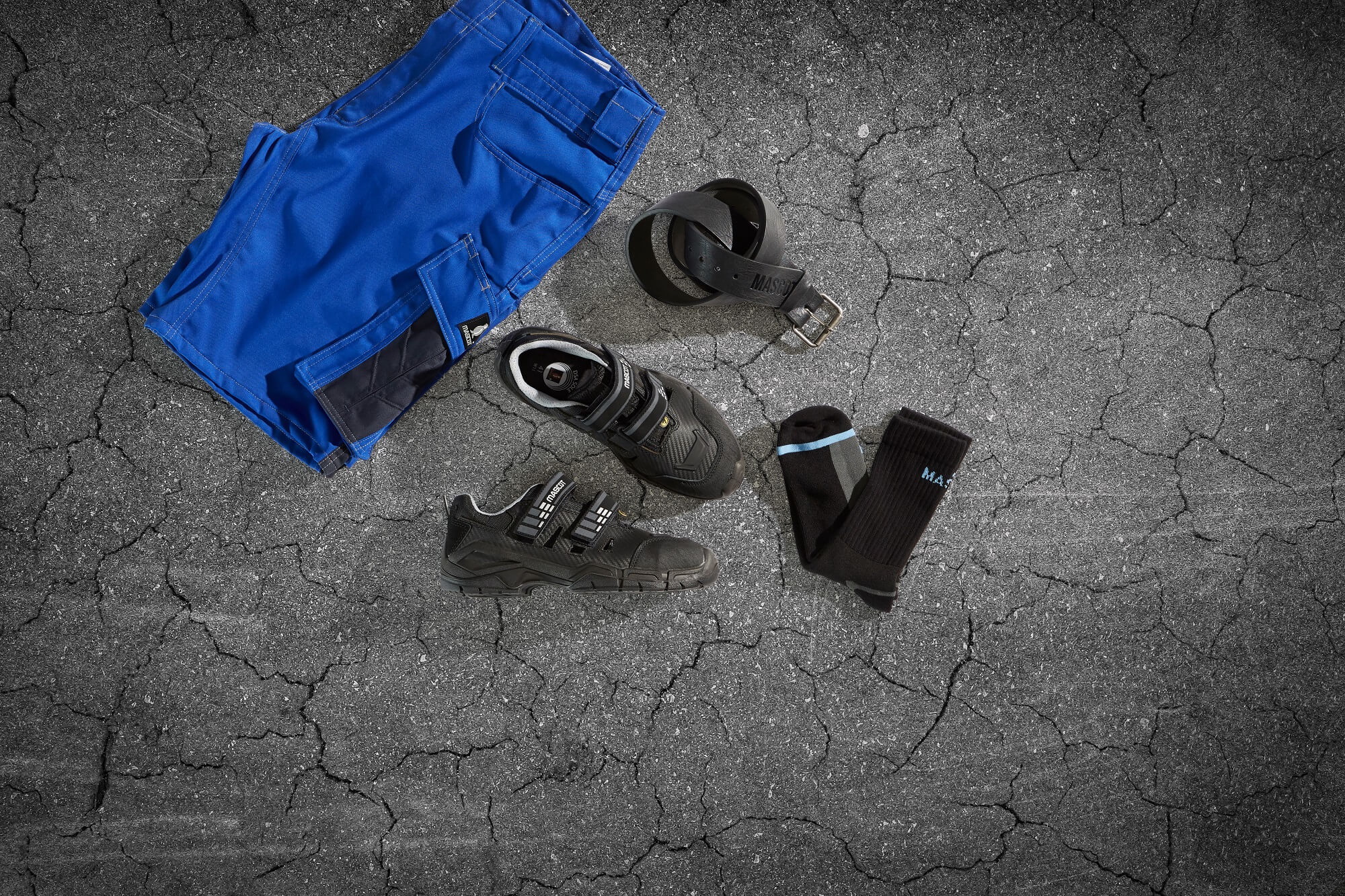 Work Pants Royal blue & Safety Shoe - Collage