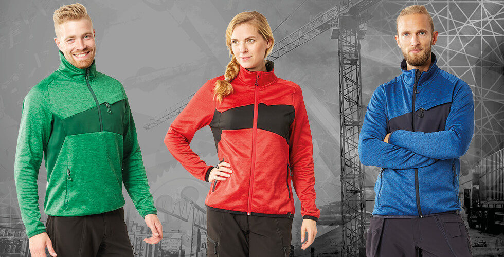 New generation of fleece jumpers for men and women