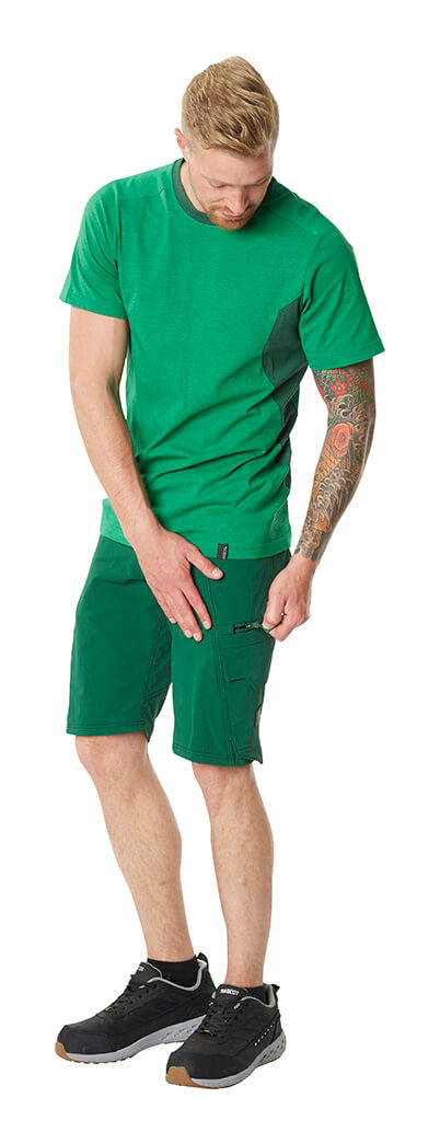 Work Shorts & T-shirt - Green - MASCOT® ACCELERATE - Man