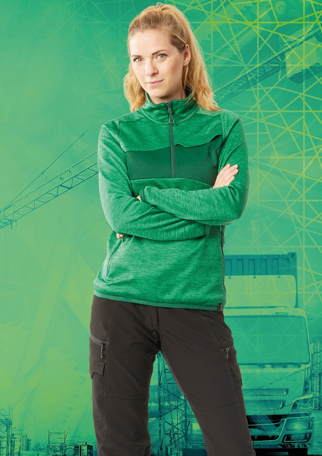 Jumper & Pants - Green - MASCOT® ACCELERATE