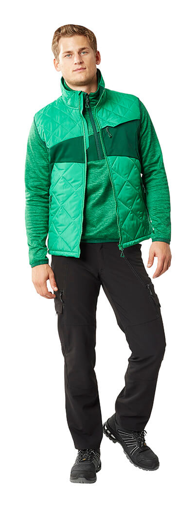Green - Pants, Thermal Gilet & Half Zipped Jumper - MASCOT® ACCELERATE