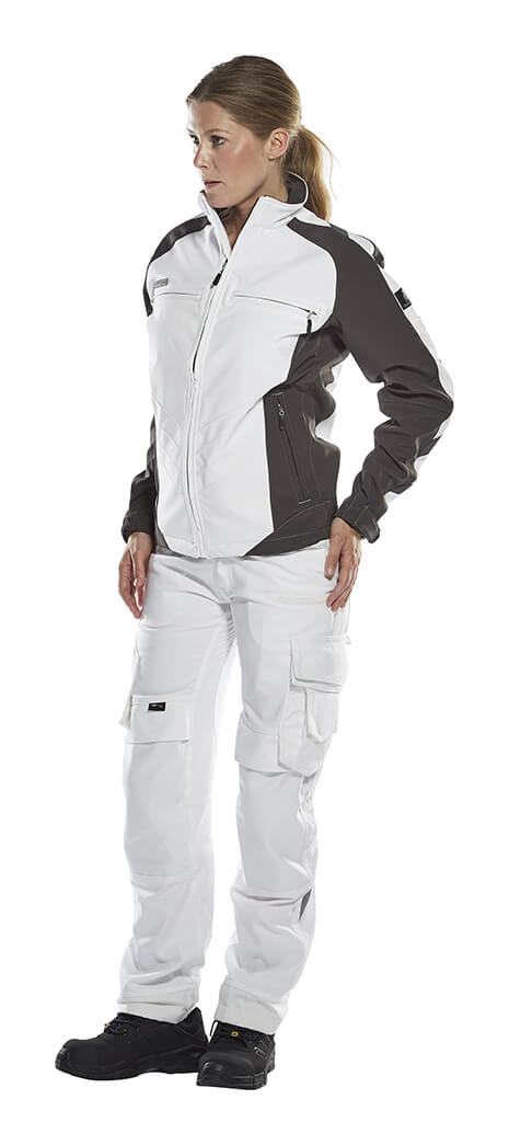 White - Softshell Jacket & Work Pants - Woman