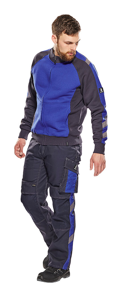 Model - Royal blue - Pants with kneepad pockets & Zipped Jumper - MASCOT® UNIQUE