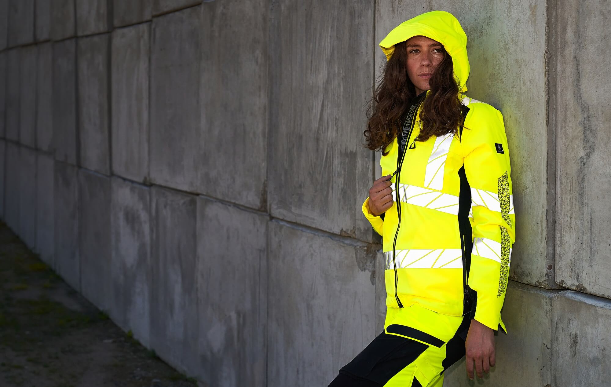 Winter Jacket & Work pants for women - Fluorescent yellow - MASCOT® ACCELERATE SAFE