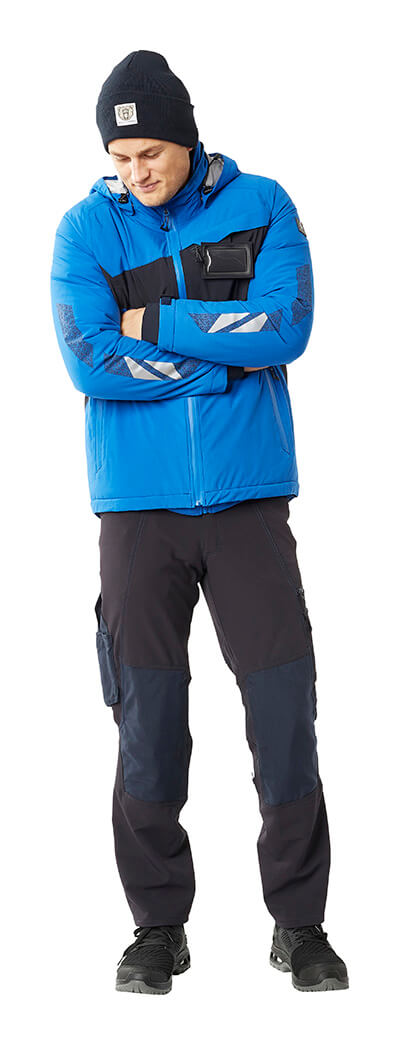 Winter Jacket, Knitted Hat & Pants - Royal blue - MASCOT® ACCELERATE - Man