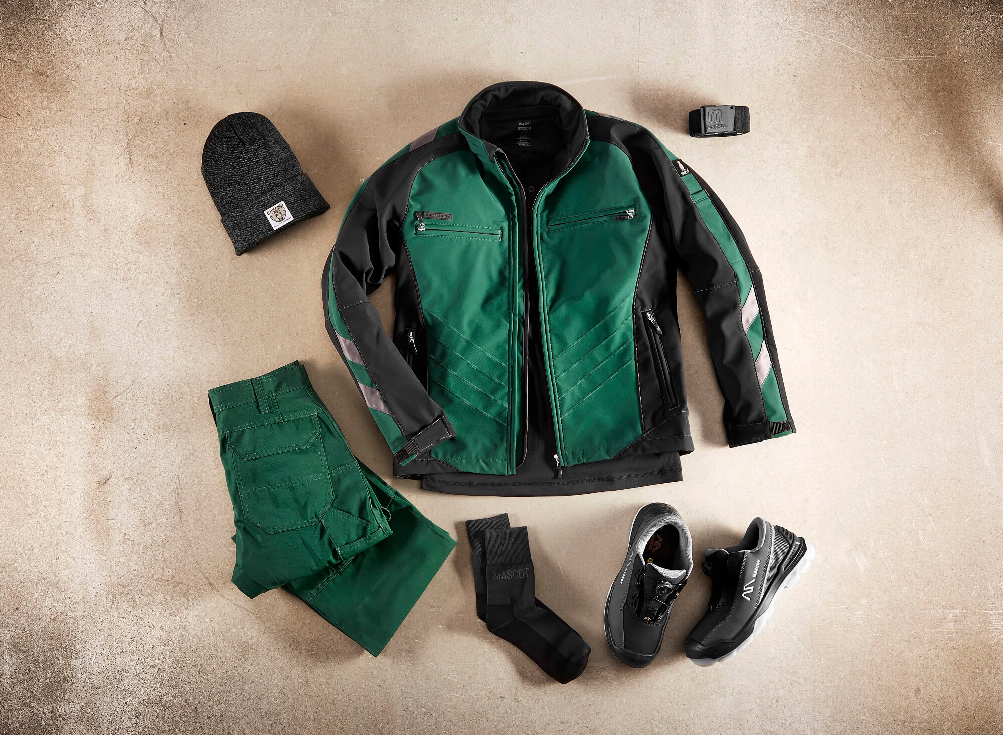 Collage - Softshell Jacket, Pants & Accessories - Green
