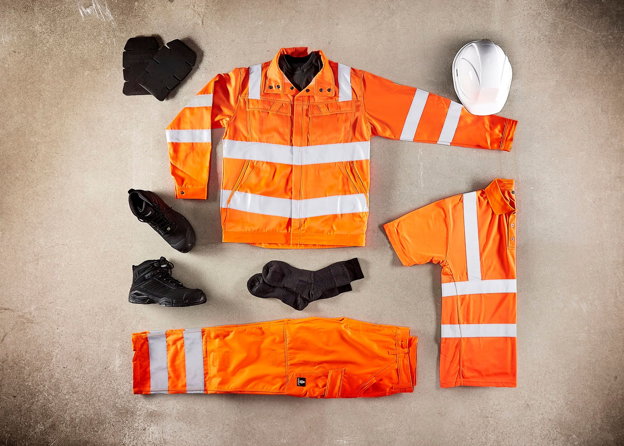Fluorescent orange - Workwear - Collage