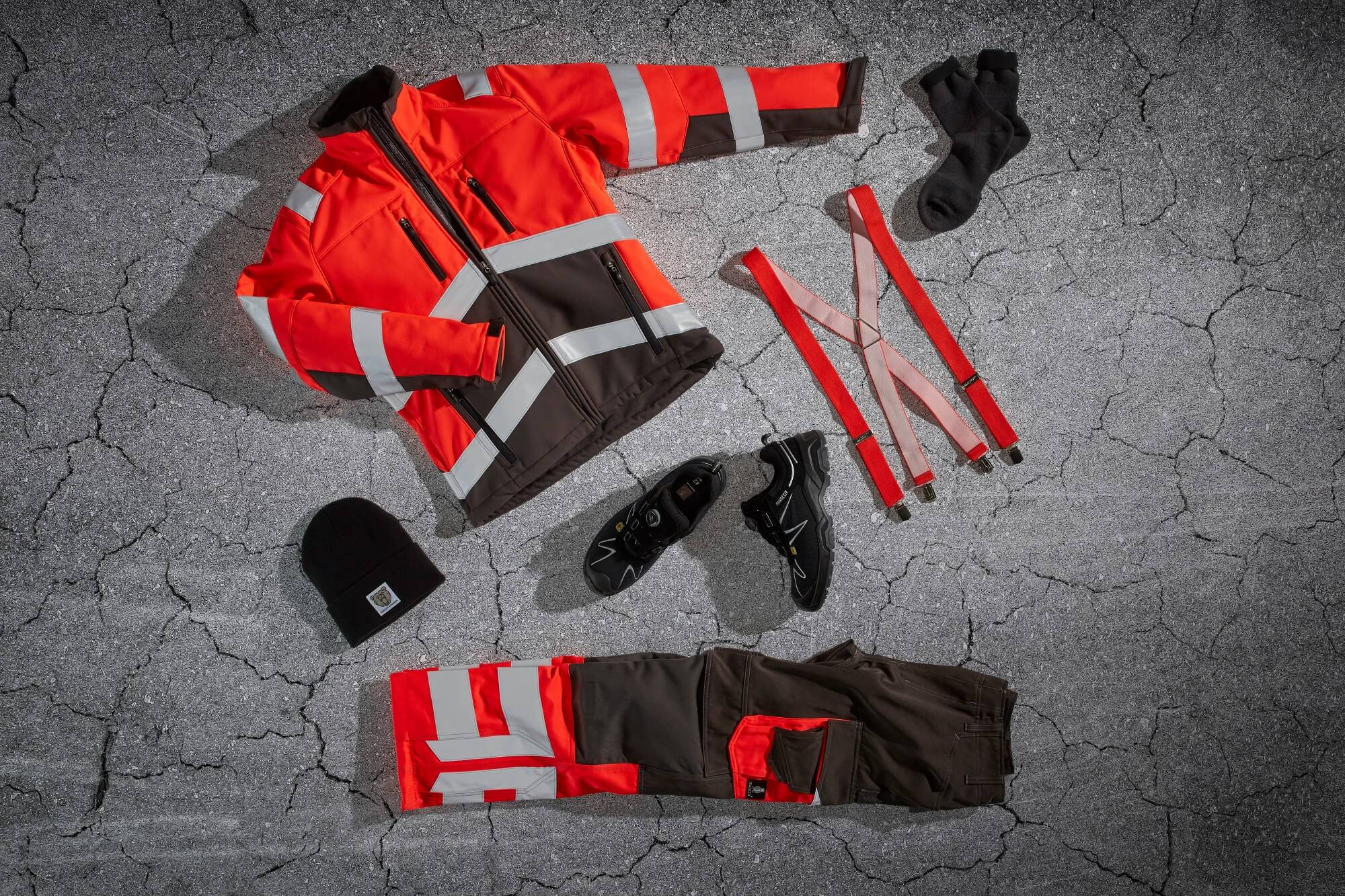 Hi-vis Clothing Red{name} - Collage{name}<p />